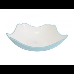 Saladeira Quadrada 22 cm Azul Simona